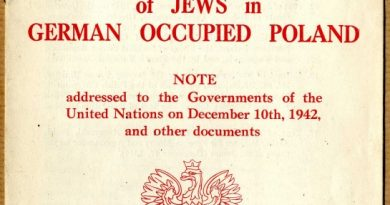 Polish Ministry of Foreign Affairs (1942): Special Report on the Mass Extermination of Jews